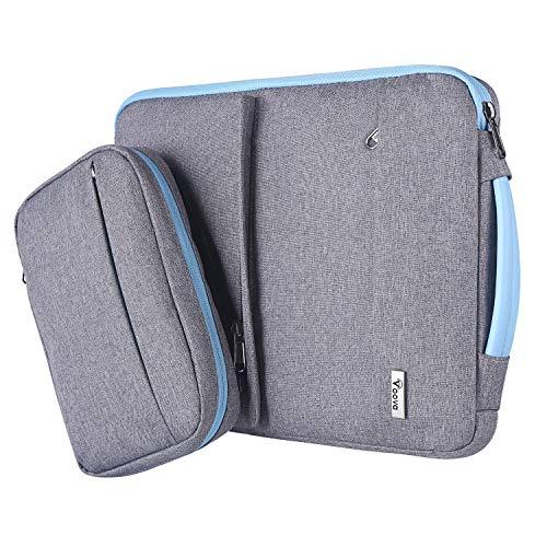 Voova 14 15 15.6 Pulgadas Funda Portátil con Bolsillo de Accesorios,Diseño Especial Impermeable Funda Protectora,Compatible con MacBook Pro Retina 15