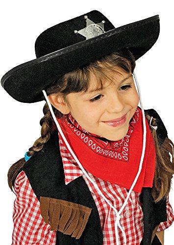 Generique - Chapeau shériff Noir Enfant