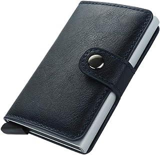 TEECY Porta Carte di Credito da Portafoglio per Carte di Credito e Banconote con Protezione RFID contenere fino a 8-10 car...