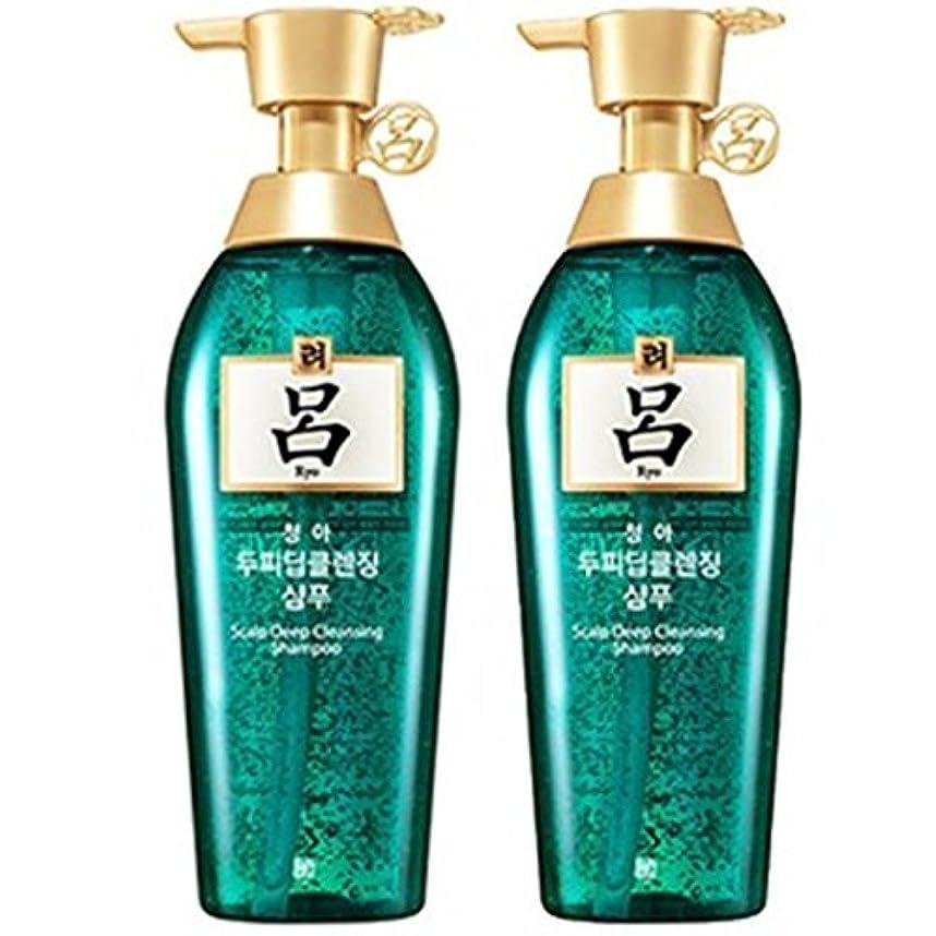 インゲン区別防水[RYO/呂/リョ] 清雅頭皮 ディープ クレンジング 企画セット(シャンプー/400mlX2ea)/Cheong ah Scalp Deep Cleansing Shampoo