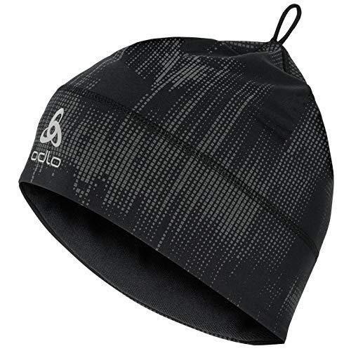 Odlo Hat Polyknit WARM Mütze, Black-Reflective Graphic FW20
