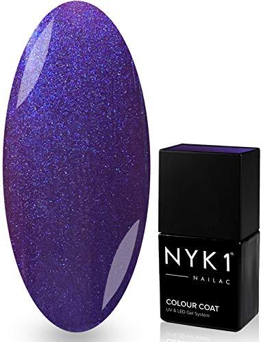 NYK1 NAILAC - PURPLE PURPLE - Professional Shellac Gel Nail Polish - UV & LED Drying - Quick Soak Off Gel Polish 10ml - Over 100 Shellac Colours to Ch