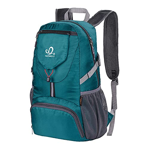 WATERFLY Packable Backpack Daypack for Men Women 20L Lightweight Travel Hiking Daypack (Green)