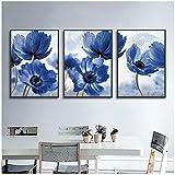 ZHANGPENGBOFBH Nordic Modern Style Schöne Blaue Blumen