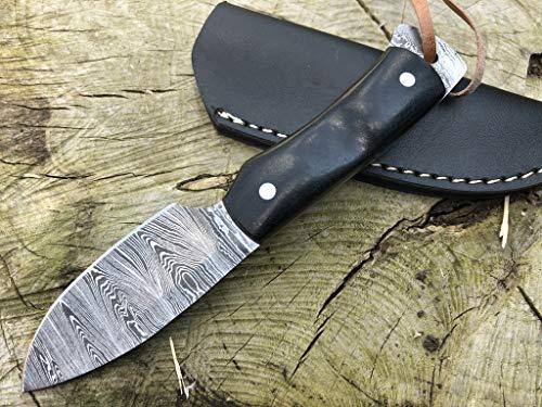 Perkin Damastmesser Jagdmesser Mit Scheide Scharf Bushcraft Messer SK800