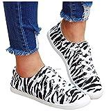 koperras Sneaker Damen Schwarz Flache Schuhe Elastische Canvas Sneakers Sportschuhe Joggingschuhe...