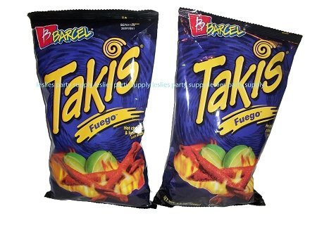 Takis Fuego Hot Chili Pepper & Lime Flavored Corn Snacks(Two 9.9 oz. Bag)-SET OF 4