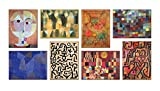 LuxHomeDecor Cuadros Paul Klee 8 piezas 40 x 30 cm Impresión sobre lienzo con marco de madera Decoración Arte Decoración Moderno