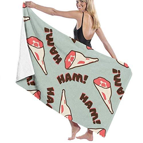surce Beach Handdoeken Zand Gratis & Zachte Handdoeken Ham Reizen Sport Wandelen Camping Lichtgewicht Badhanddoek Fshion en Huidvriendelijk voor Vrouwen Mannen Kids 31x51 Inch
