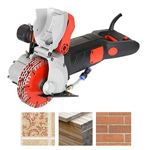 "Shikha 4800W Wall Groove Cutting Machine 42 mm Cutting Width,110V Wall Chaser 41MM Cutting Depth,Wall Slotting Machine With Saw Blades 5.2""/133mm Diameter 6500r/Min(3M power cord)"