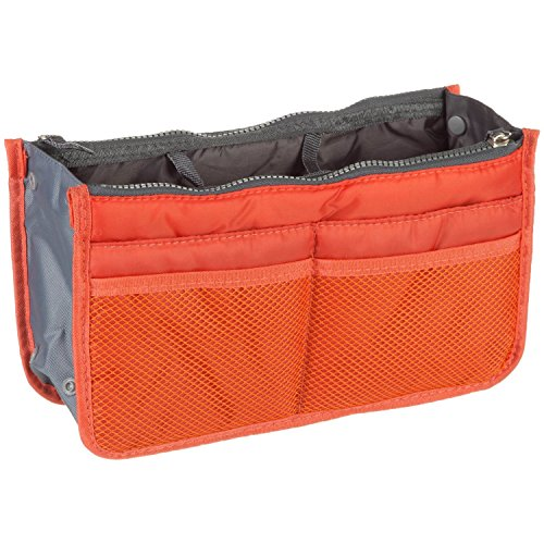 Purse Organizer Insert Multi-function Cosmetic Storage Bag in Bag(03 Orange) by GorgeousCC by GorgeousCC
