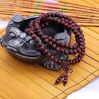 Men Bracelet Handmade Red Sandalwood 108 Bead Multi Layers Woody Prayer Beads Fashion Bangle 06090