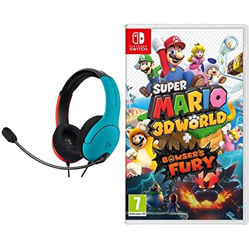 Super Mario 3D World + Bowser's Fury (Nintendo Switch) & PDP LVL40 Wired...