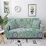 ASCV Fundas de sofá elásticas Toalla de sofá para Sala de Estar Bohemia Mandala Patrón Muebles Sillón Protector Sofás Fundas A5 2 plazas
