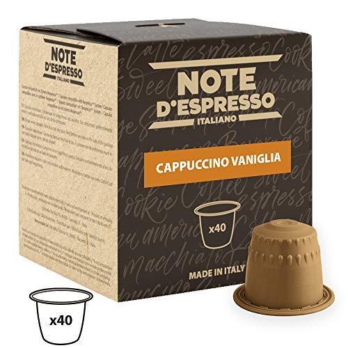 Note D'Espresso - Cápsulas de capuchino de vainilla instantáneo, 6,5