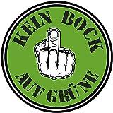 kein Bock auf grüne Gretl Greta Druck Plakette Fun Sticker Aufkleber Fridays for Future Klima