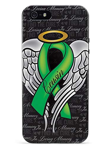 Inspired Cases - 3D Textured iPhone 5c Case - Rubber Bumper Cover - Protective Phone Case for Apple iPhone 5c - in Loving Memory of My Cousin - Green Ribbon