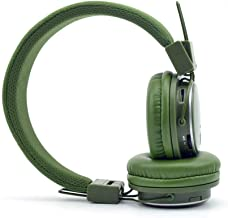 NIA Q8 Wireless Bluetooth Headphones with Built-in FM Radio and TF Card Mp3 Player- Army Green