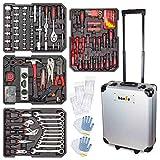 hanSe Werkzeugkoffer Maxi 1050-teilig Werkzeug Trolley gefüllt Werkzeugkasten Werkzeugkiste Heimwerker Werkzeugset