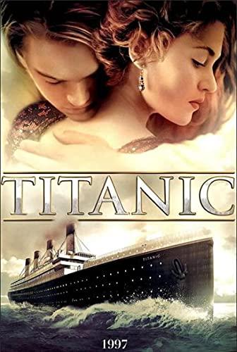 Imprimir sobre lienzo 60x80cm Sin marco Cartel de la impresión del arte de la película clásica del Titanic para la decoración de la pared del dormitorio del hogar