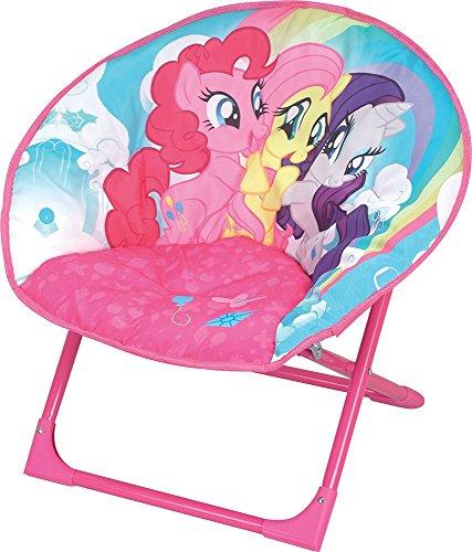 Fun House Mon Petit Poney Siège Lune Pliable pour Enfant/My Little Pony, Acier, 54x45x47 cm