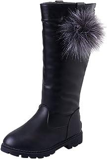 HoSaylike Chaussures Enfant Fille Couleur Unie Chaussures Fille Bottines Fille 32 Zip Bling Chaussures BéBé Fille Bottes C...