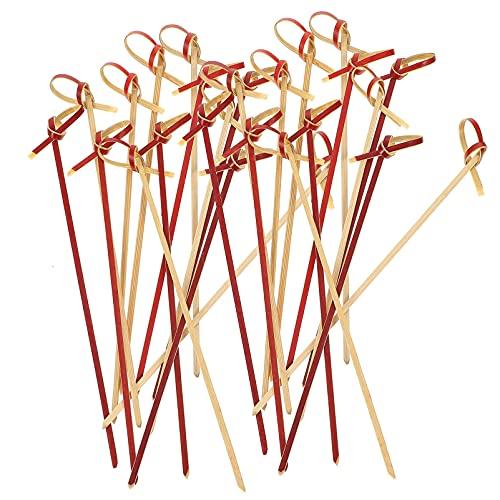 YARNOW 200 Pzas Juego de Palillos de Palillo de Palillo de Palillo de Madera para Cócteles Palillos de Bocadillos para Fiestas