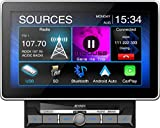 Jensen CAR1000 10.1' Extra Large Touchscreen Media Receiver with Apple CarPlay and Android Auto l Built-in Bluetooth with A2DP Music Streaming and Phonebook Support