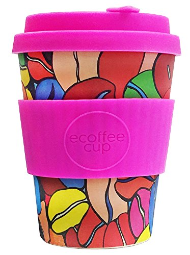 Ecoffee Cup + Project Waterfall: Couleur Cafe with Pink Silicone 350ml