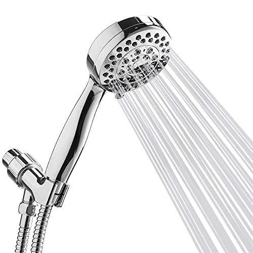 Handbrause, Set, olliwon 5, Duschkopf Set Wasser Energiespar-Modus, 152,4cm Extra Lang Edelstahl Schlauch und Halterung, full-chrome Finish Badezimmer Hand Dusche, einfach wartungsfrei
