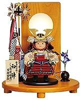 五月人形 吉徳 子供大将飾り 武者人形 平飾り 清村好英作 鎧着大将 初陣 h025-ys-507125