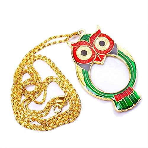 T-Best In Aliexpress promoción OWL Colgante Lupa Lupa Collar