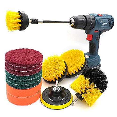 Cepillo depurador eléctrico El conjunto de accesorios de cepillo de perforación de 14 piezas tiene un rango extendido for la limpieza general de azulejos de baños y cocinas y automóviles. para la limp