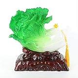 WGLG Estatuas Adornos para el Hogar Jade Col Decoración Creativa Hogar Salón Feng Shui Decoración de Resina Regalo