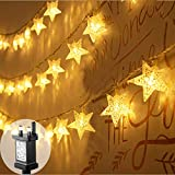 FANSIR Plug in LED String Lights, 100 LED Star Fairy Lights 33 feet 8 Modes Wire Lights Mains Powered Dissemble Firefly String Lights for Bedroom Wedding Party Indoor Outdoor Decoration (Warm White)