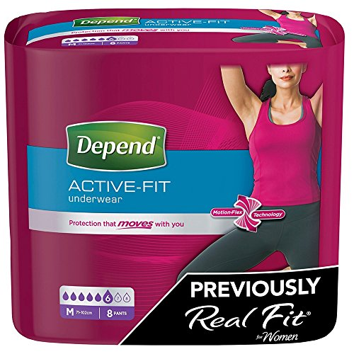 Depend Active Fit Underwear For Women - 3 Packs of 8 (Incontinence Pants)