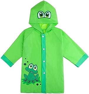 Cartoon Poncho Raincoat Children's Rainproof Jacket Waterproof PVC Hooded Poncho Button boy Girl Outdoor Waterproof Suit Raincoat (Size : S)
