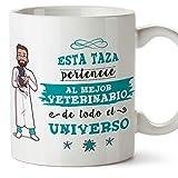 MUGFFINS Taza Veterinario (Mejor del Universo) - Regalos Originales y Divertidos de Veterinaria