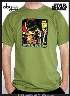 "Star Wars - Tshirt ""Pop Art"" Man Ss Green - Basic *"