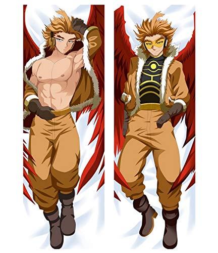 Anime Boku no Hero Academia Dakimakura Muscle Male Takami Keigo Hawks Hugging Body Pillow Case Otaku 14'X39'
