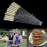 Generic 1 Set Fashion BBQ Barbecue Skewer Grill Kabob Kebab Stick Flat Needle