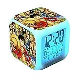 fdgdfgd Anime Naruto Kakashi Reloj Despertador Digital para niños LED con termómetro Reloj Despertador con Fecha