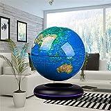 """Autoks Floating Globe, 8"""" Magnetic Levitation Floating Globe Anti Gravity Rotating World Map LED Globe for Children Educational Gift"""