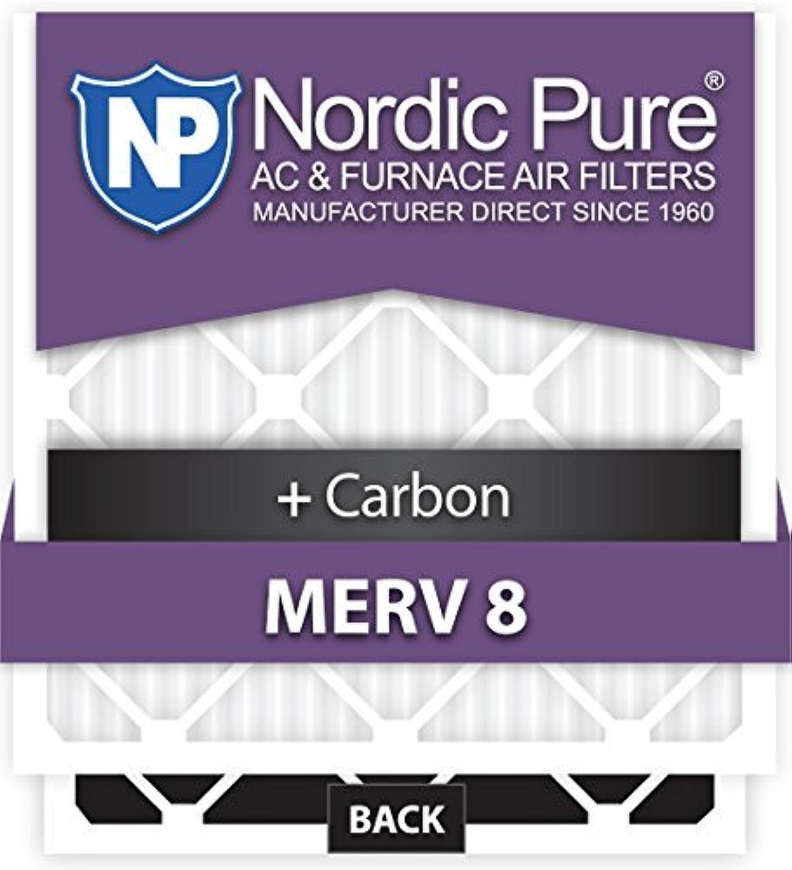 Nordic Pure 19x25x1CustomM8+C-12 MERV 8 + Carbon AC Furnace Filters 12 Piece [並行輸入品]