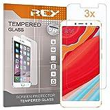 3X Protector de Pantalla para XIAOMI REDMI Y2 / XIAOMI REDMI S2, Cristal Vidrio Templado Premium