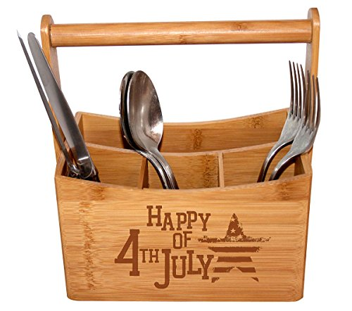 All American Bamboo Utility Caddy - 4th of July