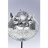 Kare Design Dekofigur Blowfish, silbernes Accessoire in Form eines Kugelfisches, auffällige und niedliche Dekoration Figur in Chrom, (H/B/T) 29 x 24 x 16 cm, Silber - 3