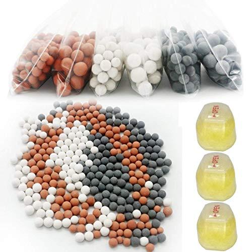 Kit de relleno de 3 meses para el filtro de la ducha - para cabezal de ducha con filtro de vitamina C - Elimina el cloro, la cloramina, el fluoruro y purifica el agua de piedra caliza