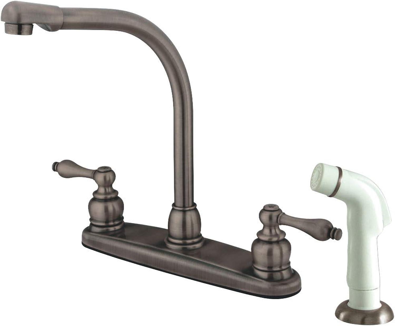 Kingston Brass GKB716AL Victorian Centerset Kitchen Faucet, 7 inch in Spout Reach, Antique Copper