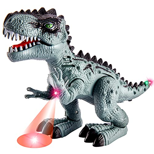 TOEY PLAY Figuras de Dinosaurios con Luz y Sonido Tiranosaurio Rex Movimiento Juguetes Regalo para Niños Niñas 3 4 5 6 Años